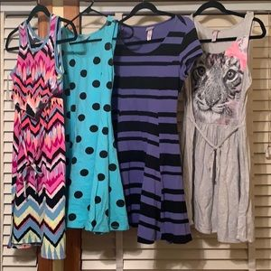 Girl's Justice Dresses Lot of 4 Size 18